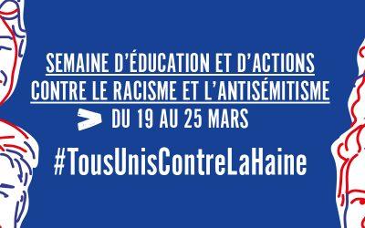 """Conférence silencieuse sur la laïcité + Conférence débat """"Non à l'antisémitisme !"""