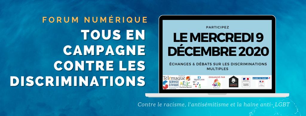 Compte-Rendu du Forum numérique Tous en Campagne Contre les Discriminations 2020 disponible !