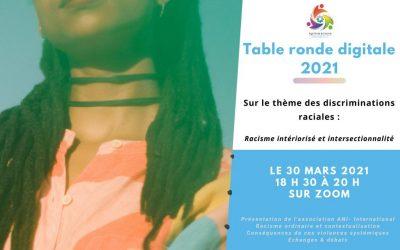 ANI-International vous invite à une table ronde digitale : Racisme intériorisé et intersectionnalité, quelles conséquences?